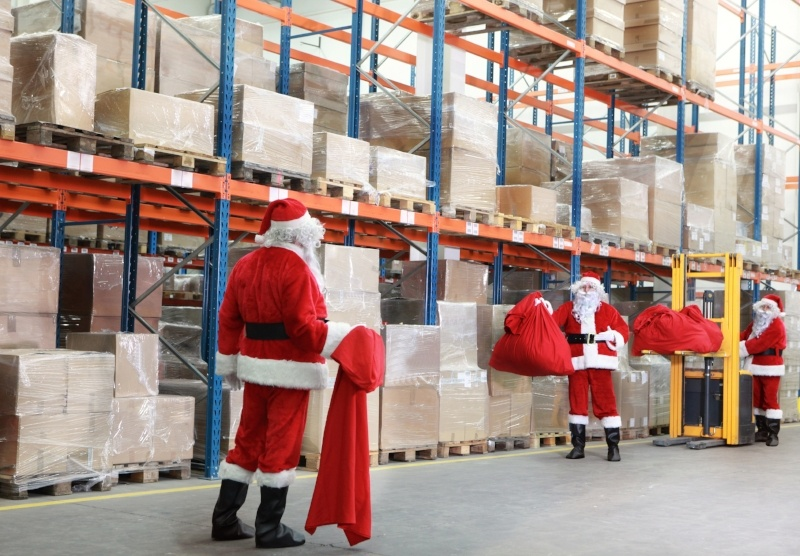 Warehouse at Christmas