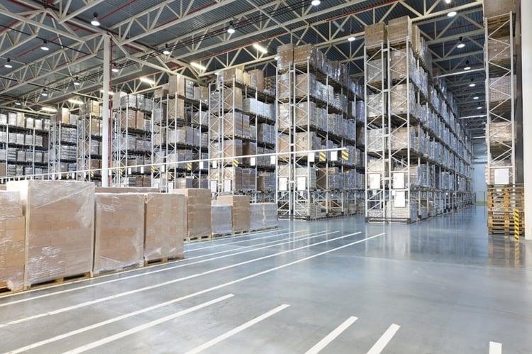 Material handling warehouse