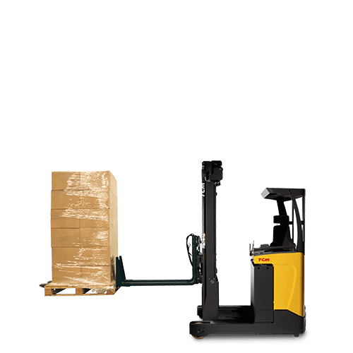 Reach Truck with telescopic forks