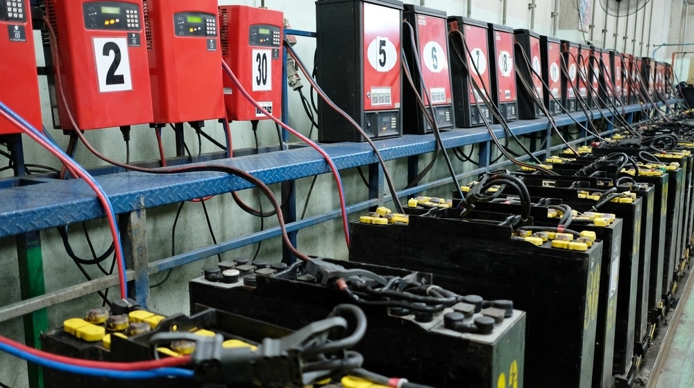 forklift charging station power requirements