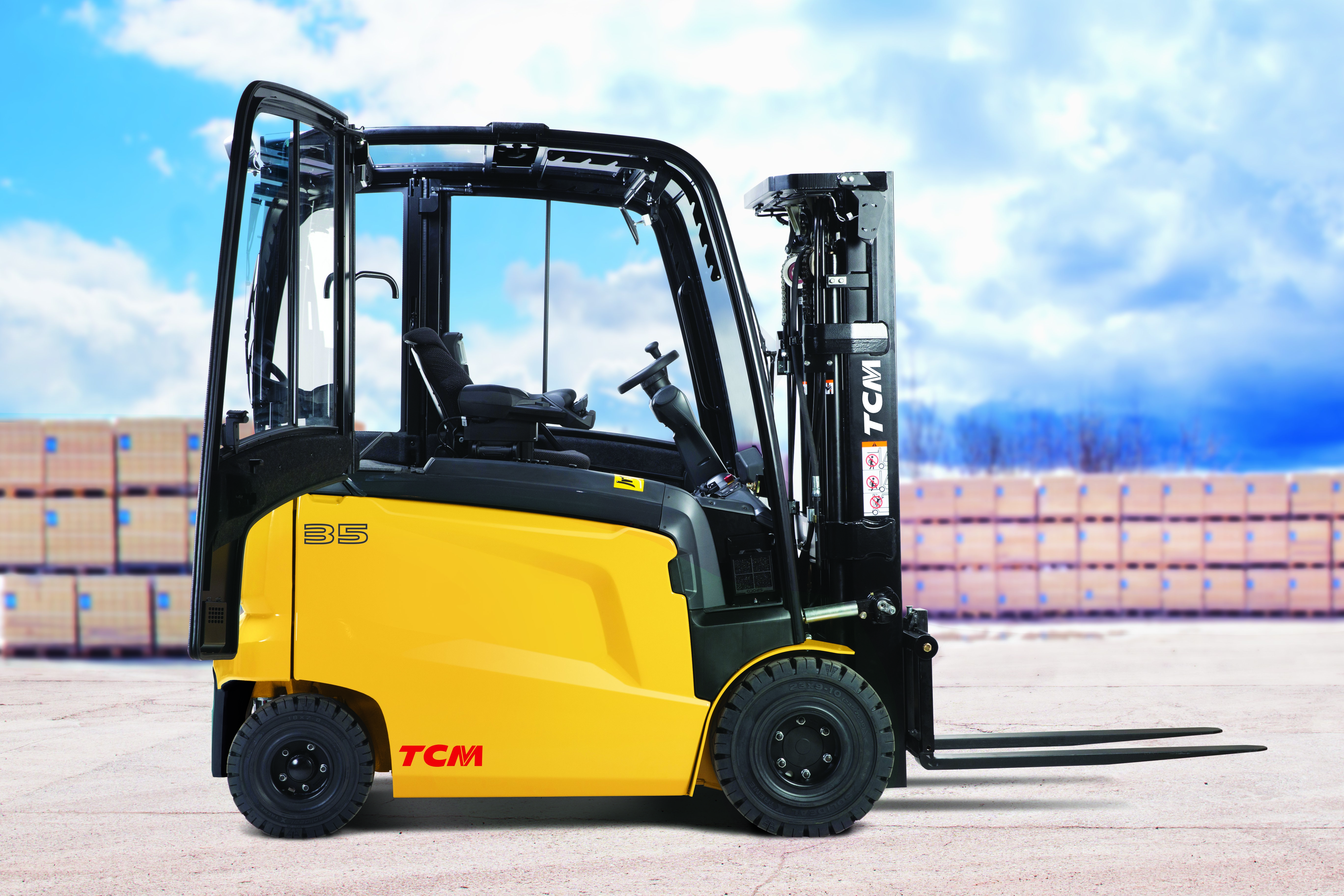 Supercharge Your Operation's Efficiency with TCM's FHB 4-Wheel Electric Counterbalance Truck